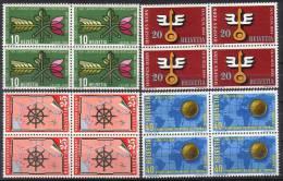 Zu 316-319 / Mi 593-596 / YT 544-547 Blocs De 4 ** / MNH SBK 48,- - Unused Stamps