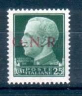 ITALIA 1944 RSI 25 Cent. GNR  VR **MNH  ALTA QUALITA' - 1944-45 République Sociale