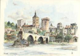 FRANCE : 84 : ## AVIGNON – Vue Générale. ## Aquarelle De Robert Lépine. - Avignon