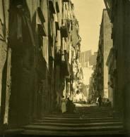 Italie Napoli Naples Pallonetto S Lucia Ancienne Stereo Photo Stereoscope NPG Ca 1900 - Stereoscopio