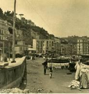 Italie Napoli Naples Mergellina Ancienne Stereo Photo Stereoscope NPG Ca 1900 - Stereoscopio