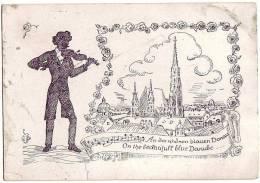 PC7069 Postcard: Johann Strauss, St. Stephen's - Music And Musicians