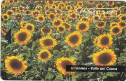 COLOMBIA(chip) - Sunflowers, PRON TEL Telecard, Specimen, 01/96 - Colombia