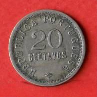 ANGOLA  20  CENTAVOS  1922   KM# 64  -    (Nº01718) - Angola