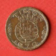 TIMOR  1  ESCUDOS  1970   KM# 19  -    (Nº01725) - Timor