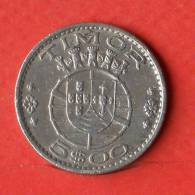 TIMOR  5  ESCUDOS  1970   KM# 21  -    (Nº01728) - Timor