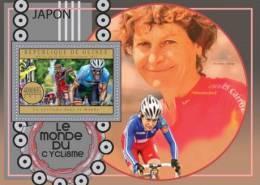gu12605b Guinea 2012 Cycling Bicycles s/s Jaannie Longo