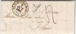 Cursive 71 BALLON Cachet De BEAUMONT SUR SARTHE Lettre Du 7 Octobre 1839 , TTB+++++ - 1849-1876: Klassieke Periode