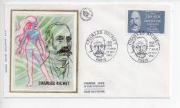 Ref X : Enveloppe Premier 1er Jour FDC First Day Cover : Charles Richet - FDC