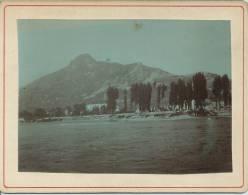 Photo Avant 1900 - Environs De Grenoble - Les Bords Du Drac, La Bastille En Premier Plan Et Le Massif De Chartreuse - Fotos