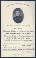 NORD PAS DE CALAIS - 59 - NORD - BOURBOURG - CAMPAGNE - Emery Dereuppdre - Avvisi Di Necrologio