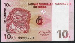 CONGO D.R.  P82 10CENTIMES 1997 #C...M   UNC. - Sin Clasificación