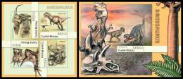 GUINEA BISSAU 2012 - Dinosaurs. M/S + S/S Official Issue - Guinea-Bissau