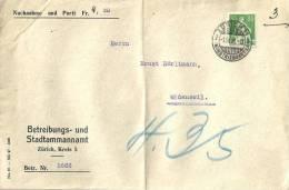 """NN Brief  """"Betreibungs- Und Stadtammannamt, Zürich""""           1928 - Briefe U. Dokumente"""
