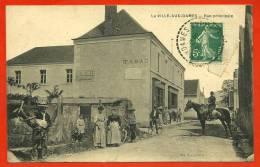 CPA 37 La VILLE-AUX-DAMES - Rue Principale (Tabac - Pub Dubonnet) ° Vve Nau éditeur - Autres Communes