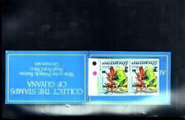 GUYANA. BOOKLET.  OLIMPIC GAMES 1984 YEAR. INVERTED OVERPRINT. - Guiana (1966-...)