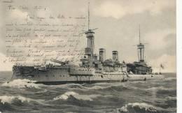 Croiseur Bateau Guerre Timbrée Tintigny Belgique 1904 Nels Serie Delft No 23 - Guerra