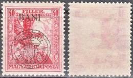 HUNGARY, 1919, Eagle With Sword,  Issued In Kolozsvar, Overprinted In Black, SEMI-POSTAL STAMPS, Sc/Mi 5NB13 / RO_25I - Nuovi
