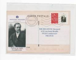 TIMBRE  DE L INSTITUT PASTEUR SUR LETTRE - Louis Pasteur
