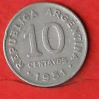 ARGENTINA  10  CENTAVOS  1951   KM# 47  -    (1733) - Argentine