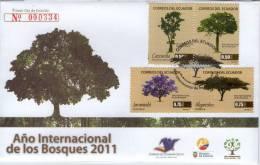 Lote EC57, Ecuador, 2011,  SPD-FDC, Año Internacional De Los Bosques, International Year Of Forests - Equateur