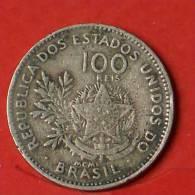 BRAZIL  100  REIS  1901   KM# 503  -    (Nº01777) - Brésil