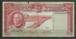 ANGOLA - BILLETE ESTADO   BUENA CONSERVACIÓN  PEQUEÑA ROTURA. - Angola