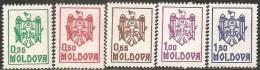 Moldova  1991  MNH**  -  Yv. 5/9 - Moldavia