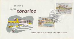 Suriname - FDC E22 - Nieuwe Hotels - NVPH 386 - 387 - Suriname ... - 1975