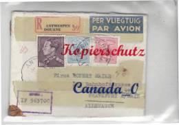 B  7  --  R - Brief V. Antwerpen (Diamanten) N. Neu Isenburg  7.7.1956 - Covers & Documents
