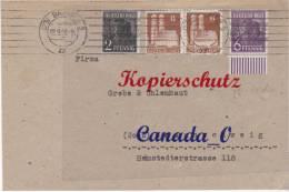 B  7  --  Brief V. Bremen N. Braunschweig  2.9.1948  Mischfrank. Bauten + Posth-Üdrück - Covers & Documents