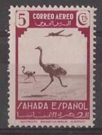 SHR75-LB078TM.Marruecos. Maroc.Marocco.Sahara. Español..Fauna Y Avion.Avestruz. 1943 (Ed 75**).EXCELENT - Marocco (1956-...)