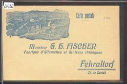 FEHRALTORF - FISCHER, FABRIQUE D'ALLUMETTES ET GRAISSES CHIMIQUES - TB - ZH Zurich
