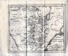 Carte De L'évêché D'Osnabruck - Gravure Sur Cuivre Originale De 1758 - Stiche & Gravuren
