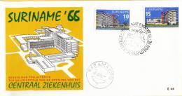 Suriname - FDC E44 - Ingebruikneming Centraal Ziekenhuis Paramaribo - NVPH 447 - 448 - Suriname ... - 1975