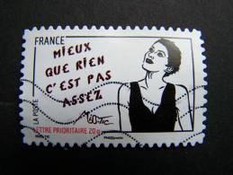 OBLITERE FRANCE ANNEE 2011 N° 547 SERIE FEMME DE L´ETRE DE MISS TIC MIEUX QUE RIEN C´EST PAS ASSEZ  AUTOCOLLANT ADHESIF - France