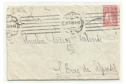 PORTUGAL - Letter Circulated From Lisbon To S. Braz De Alportel - Error Ceres - VCC Nº XI - Variétés Et Curiosités