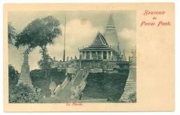 Indochine  Cambodge Souvenir De Phnom Penh  Le Pnom. (+300 CPA Sur L'Indochine En Cours) - Cambodia