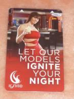 U.S.A. - Las Vegas Monte Carlo Hotel & Casino Room Key Card (erotic/woman/femme) - Grecia