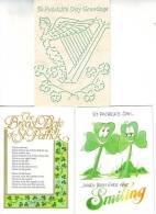 3 Pieces St. Parick 's Day Greetings 1987 Beannachtai Na Féile Pádraig - Saint-Patrick's Day