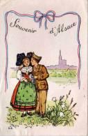 Couple D' Alsaciens (Sodat), - Souvenir D' Alsace   (54005) - Fotografia