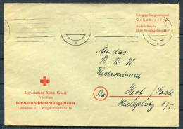 Deutschland Kriegsgefangenenpost, Bayrisches Rotes Kreuz, Landesnachforschungsdiens T München, Brief - BRD