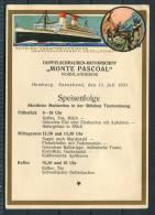 Hamburg-Südamerikaische Dampfschifffahrts-Gesells Chaft Motorschiff MONTE PASCOAL Reindeer - Dampfer