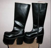 """Vintage Paire De Bottes Style Gothique """"DEMONIA""""_L53 - Chaussures"""