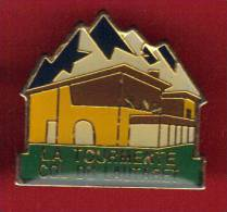 27800-pin's .cyclisme.col Du Lautaret.la Tourmente. - Villes