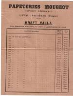 PAPETERIES MOUGEOT Papier Kraft Valla Format A4 Laval-Bruyères Vosges (88) - Francia