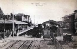 SUEZ, La Gare, The Station, Lokomotive, 1905?, Gute Erhaltung - Sues