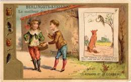 CHROMO  BERLINGOTS- EYSSERIC  CARPENTRAS  Le Renard Et Le Corbeau ° - Süsswaren
