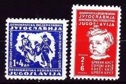 Jugoslawien Demokratie 1945 - 459-60 **/ Michel - Nuovi