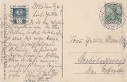 DR AK Dresden EF Minr.85I SST Int. Hygiene-Austellung 1911 Ansehen !!!!!!!!!!!!!!!!! - Deutschland
